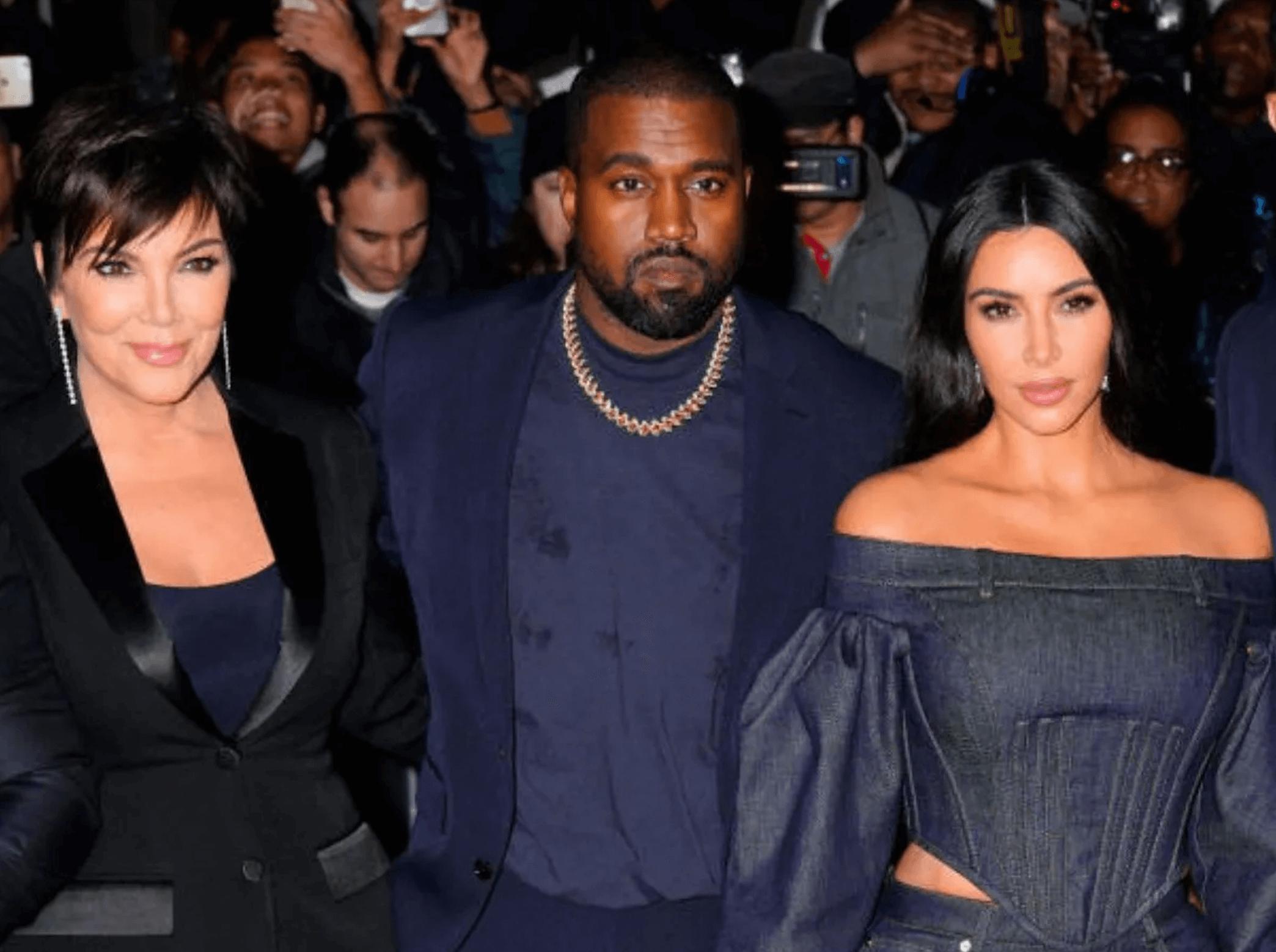 Kris Jenner, Kanye West, Kim Kardashian