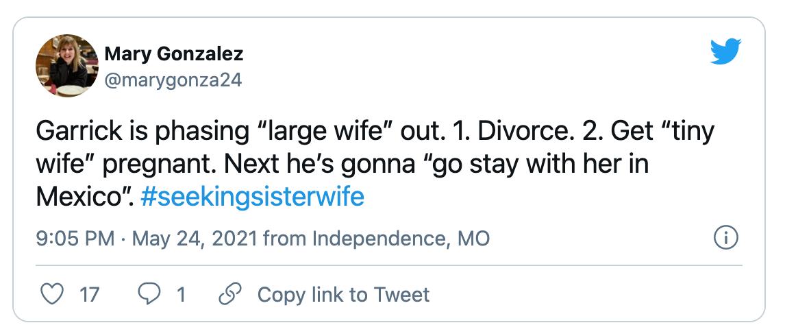 'Seeking Sister Wife
